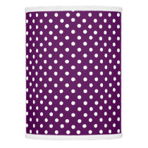 Purple and White Polka Dot Lamp Shade
