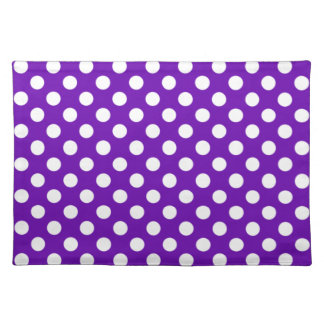 Purple and White Polka Dot Placemats