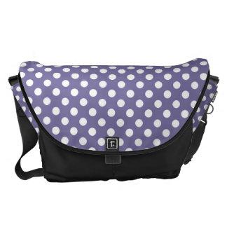 Purple and White Polka-dot Rickshaw Messeger bag