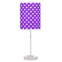 Purple and white polka dot table lamp