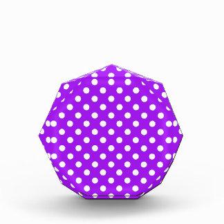 Purple and White Polka Dots Award