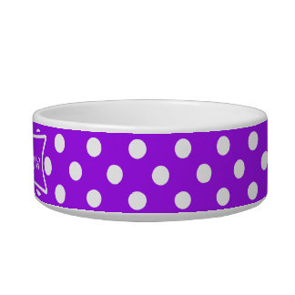 Purple and White Polka Dots Bowl