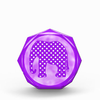 Purple and White Polka Dots Elephant Award