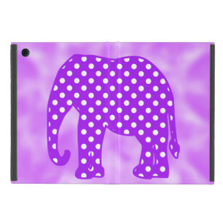 Purple and White Polka Dots Elephant Cases For iPad Mini