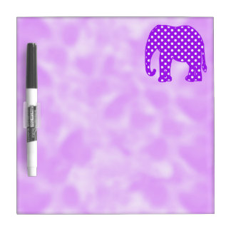 Purple and White Polka Dots Elephant Dry-Erase Boards