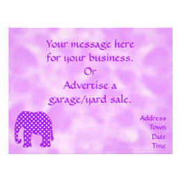 Purple and White Polka Dots Elephant Flyer