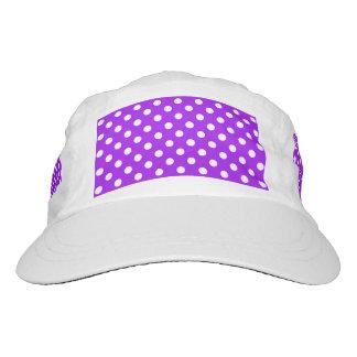 Purple and White Polka Dots Hat