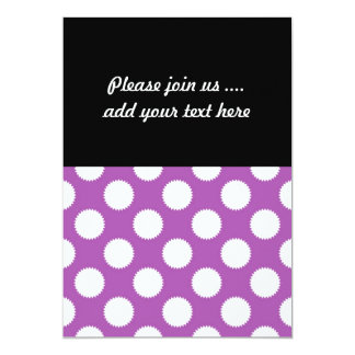 Purple and White Polka Dots Announcements