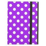 Purple and White Polka Dots iPad Folio Case