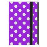 Purple and White Polka Dots iPad Mini Covers