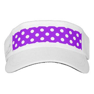 Purple and White Polka Dots Visor