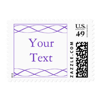 Purple and White Postage Stamp w/ Custom Text