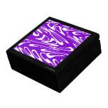 Purple and White Retro Pattern. Keepsake Box