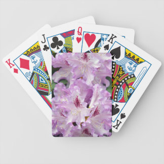 Purple and white rhododendron flowers bicycle poker deck