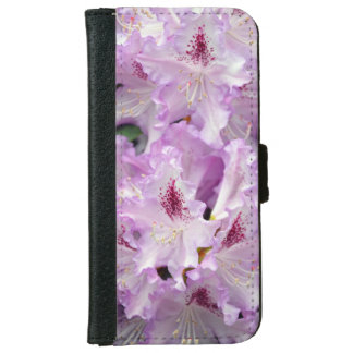 Purple and white rhododendrons iphone wallet case