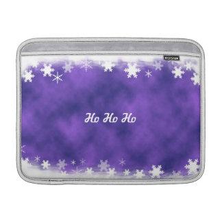 Purple and White Snowflake MacBook Sleeve