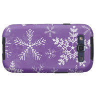 Purple and White Snowflake Pattern Galaxy SIII Cover