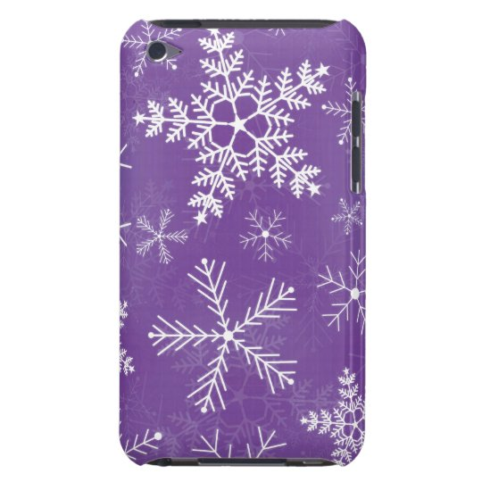 Purple and White Snowflake Pern iPod Touch Case-Mate Case