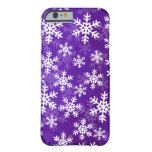 Purple and White Snowflakes iPhone 6 Case