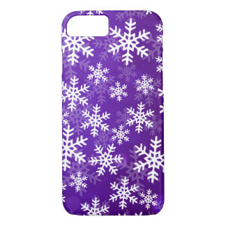 Purple and White Snowflakes iPhone 8/7 Case