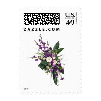 Purple and White Spray Stamp