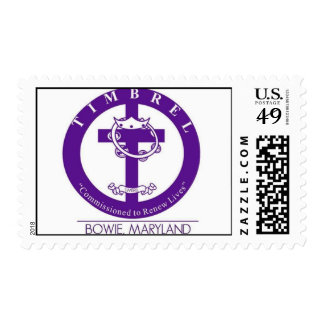 Purple and White Stamps