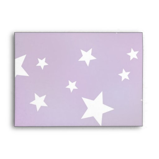 Purple and White Star Pattern Envelopes