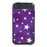 Purple and White Star Pattern iPhone 4 Cover