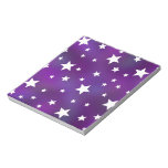 Purple and White Star Pattern Notepads