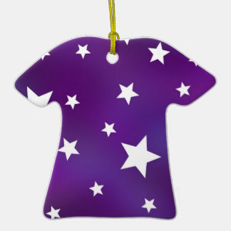 Purple and White Star Pattern Ornaments