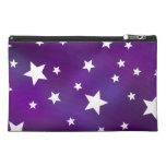 Purple and White Star Pattern Travel Accessory Bag