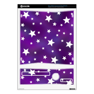 Purple and White Star Pattern Xbox 360 S Skin