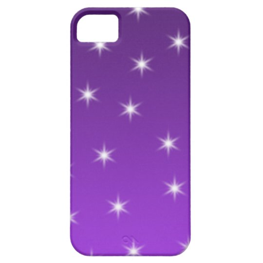 Purple and White Stars, Pattern. iPhone SE/5/5s Case