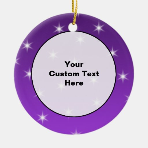 Purple and White Stars, Pattern. Christmas Tree Ornament
