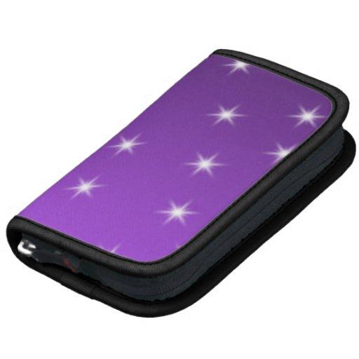 Purple and White Stars, Pattern. Folio Planner