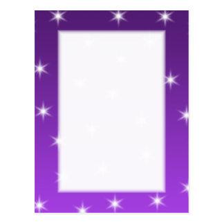 Purple and White Stars, Pattern. Postcard