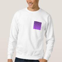 Purple and White Stars, Pattern. Sweatshirt