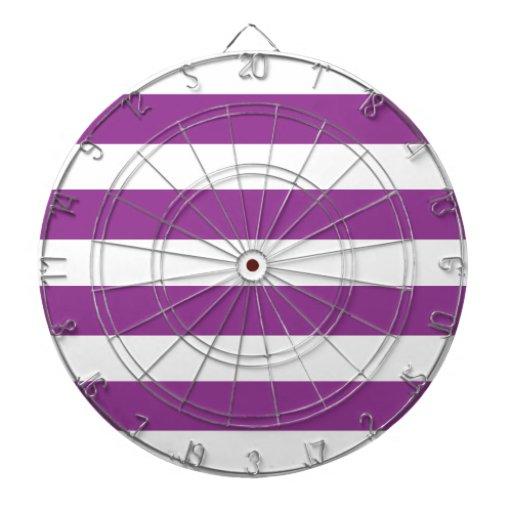 Purple and White Stripe Dartboard