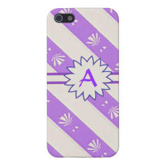 Purple and White Striped Iphone 5 Case