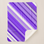 [ Thumbnail: Purple and White Striped Pattern Blanket ]