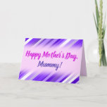 [ Thumbnail: Purple and White Striped Pattern Card ]