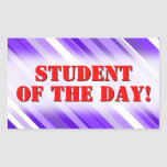 [ Thumbnail: Purple and White Striped Pattern Sticker ]