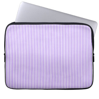 Purple and White Stripes Laptop Sleeve