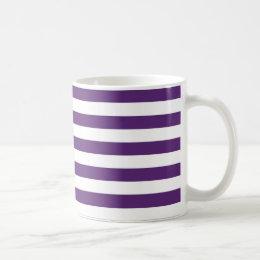 Purple and White Stripes Mug