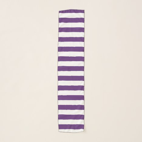 Purple and White Stripes Scarf