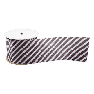 Purple and White Stripes Satin Ribbon