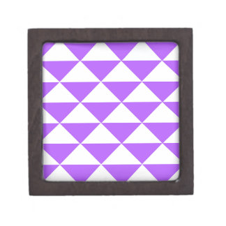 Purple and White Triangles Jewelry Box