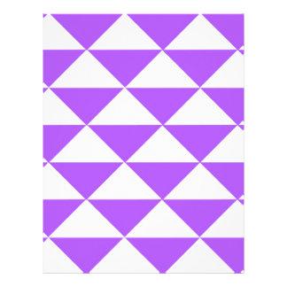 Purple and White Triangles Letterhead