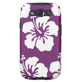 Purple and White Tropical Hibiscus Phone Case Galaxy SIII Case