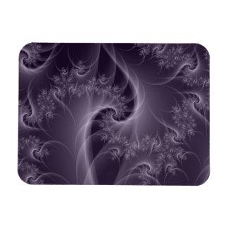 Purple and White Twist Photo Magnet
